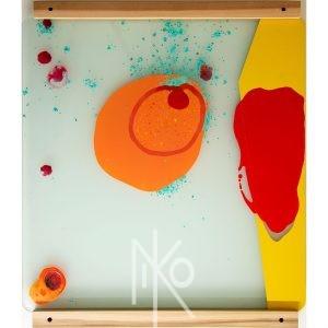 Micro Slide #3 Painting by Niko Yulis