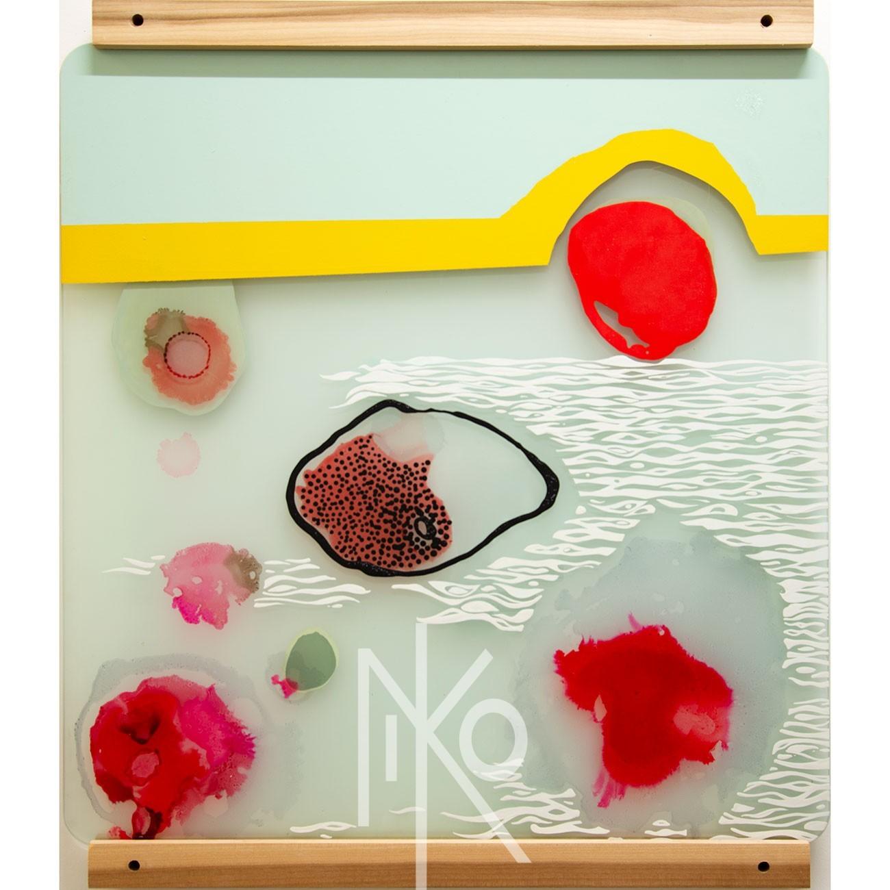 Micro Slide #5 Painting by Niko Yulis