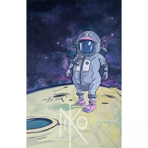 Space Girl Painting by Niko Yulis
