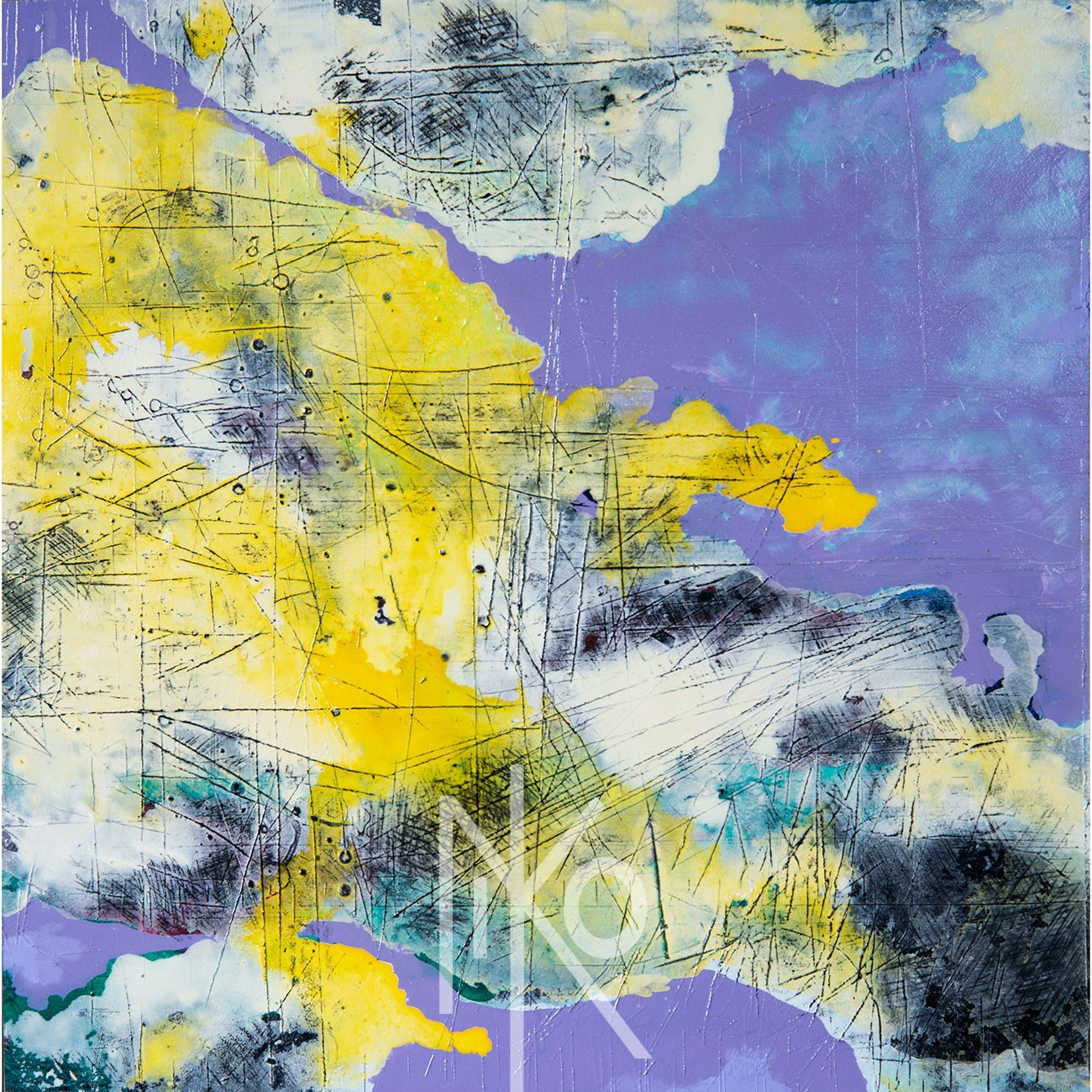 Storm Abstraction Painting by Niko Yulis
