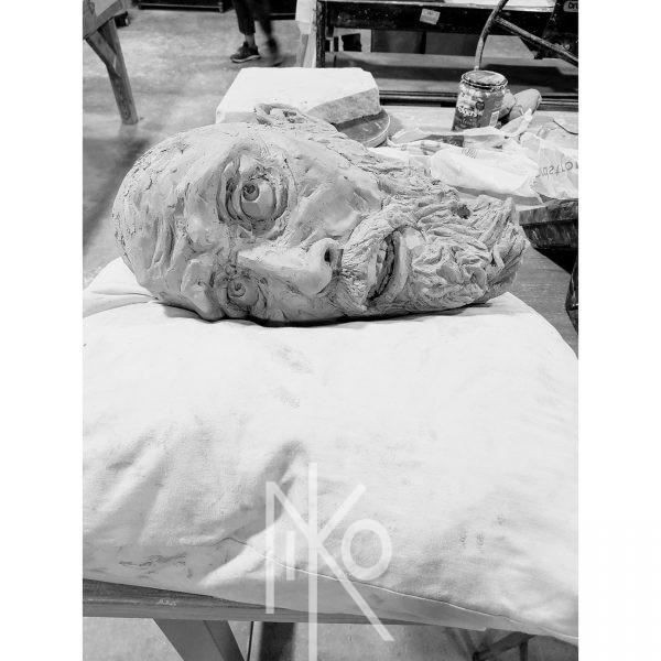 Losing Your Head Sculpture by Niko Yulis